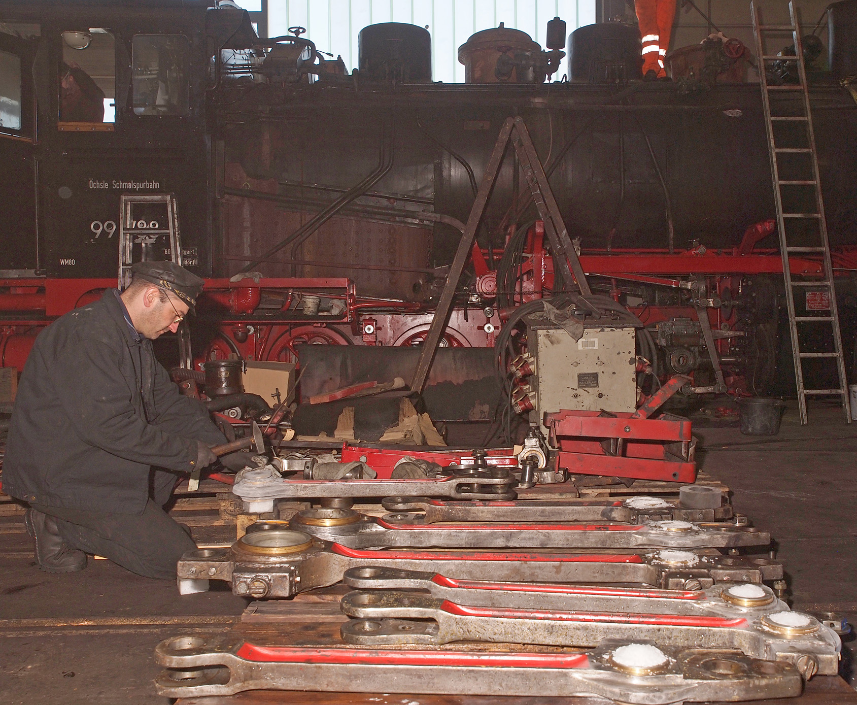 Trockeneis in der Dampflok-Werkstatt – Öchsle Museumsschmalspurbahn